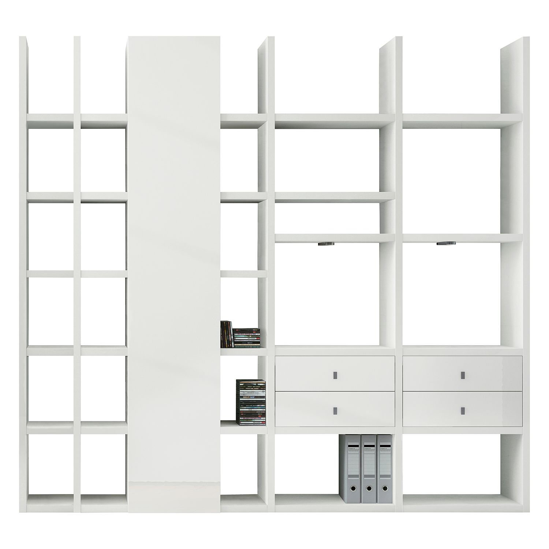 energie  A+, XL-kast Emporior VI - RGB-verlichting - Hoogglans wit, loftscape