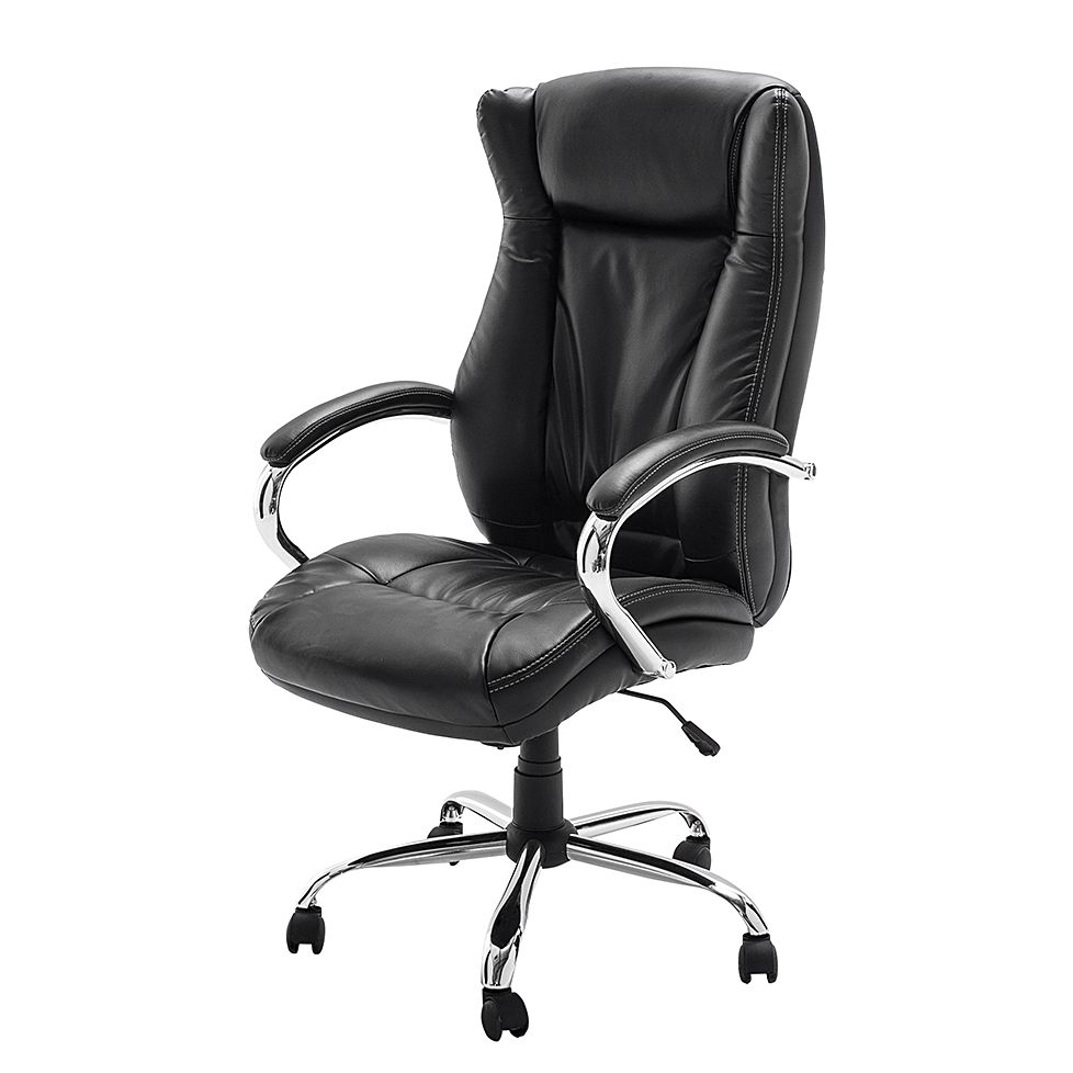 Home 24 - Fauteuil de direction director i - imitation cuir - noir, home24 office