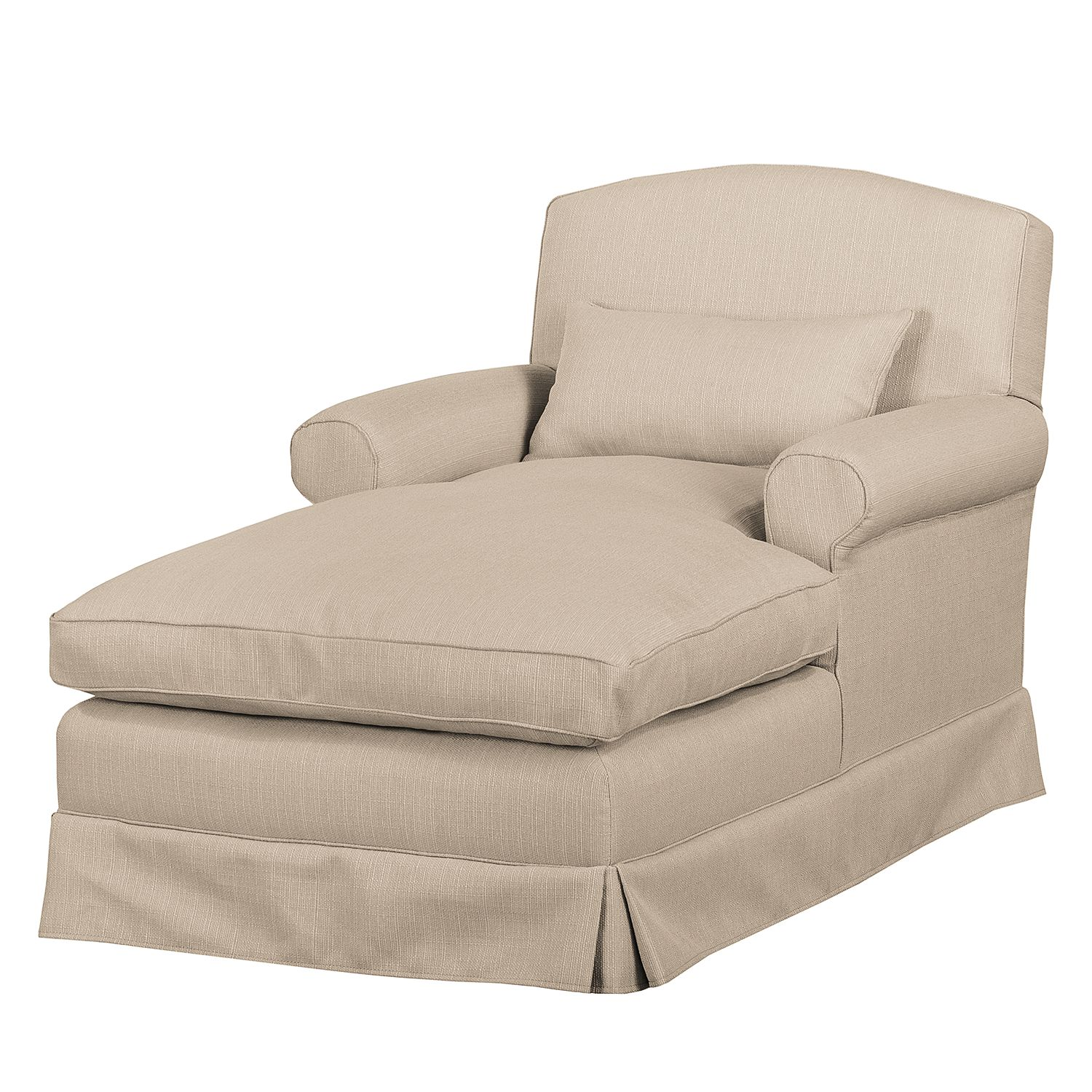 Fauteuil XXL Wollin - Tissu - Cappuccino, Jack and Alice