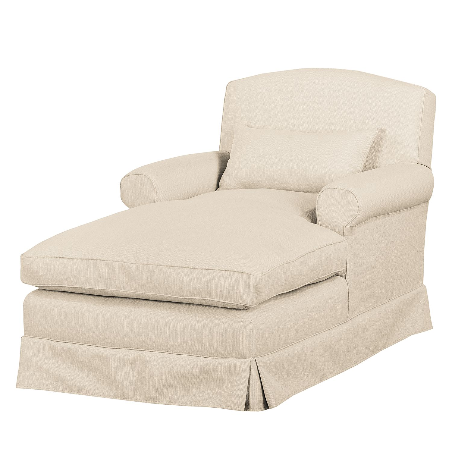 Fauteuil XXL Wollin - Tissu - Crème, Jack and Alice