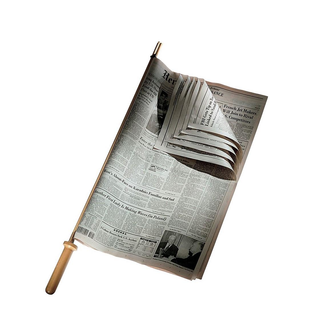 Home 24 - Porte-journaux - bois de cerisier, alessi