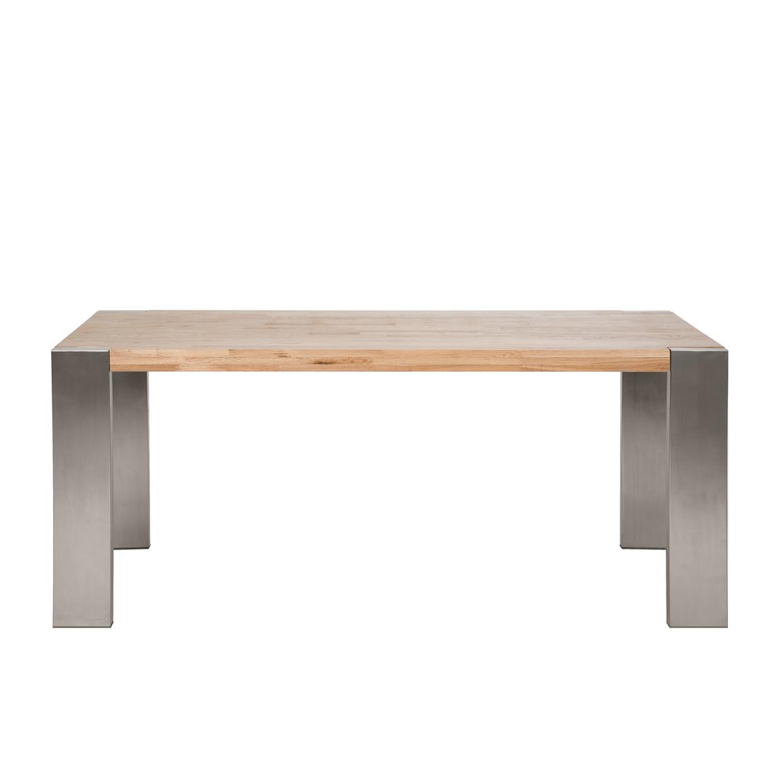 Massiver Baumstamm Tisch GENESIS 220cm Eiche Massivholz Baumkante Esstisch mit Kufengestell aus ...
