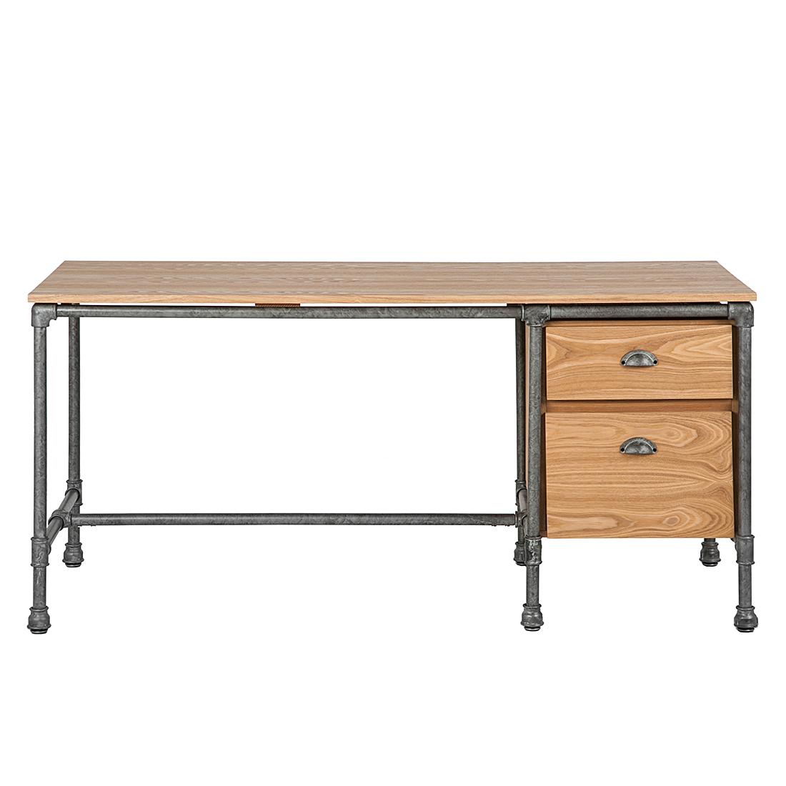 Schreibtisch Container Holz 2021