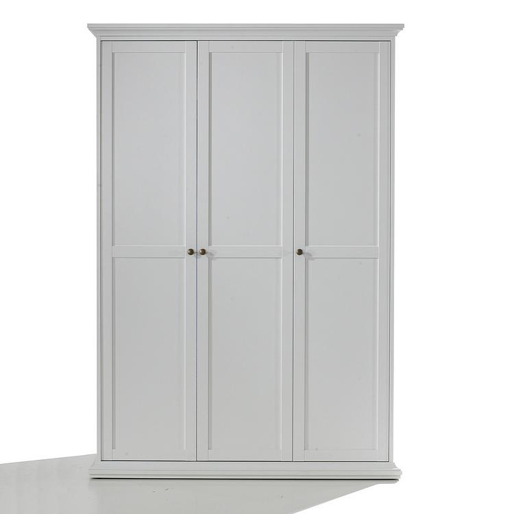 Kleiderschrank 3-türig Weiß Dielenschrank Drehtüren Schrank Schlafzimmer NEU  eBay