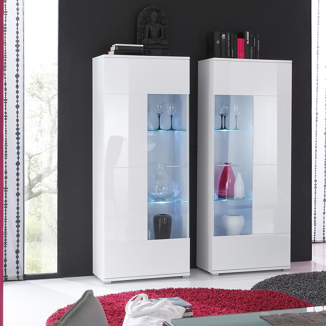 Wohnzimmer Vitrine Weiß Hochglanz ~ Wohndesign Ideen