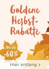 Goldene Herbstrabatte