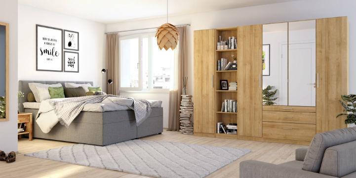 Kiydoo schlafzimmermoebel: bett und kleiderschrank bei home24