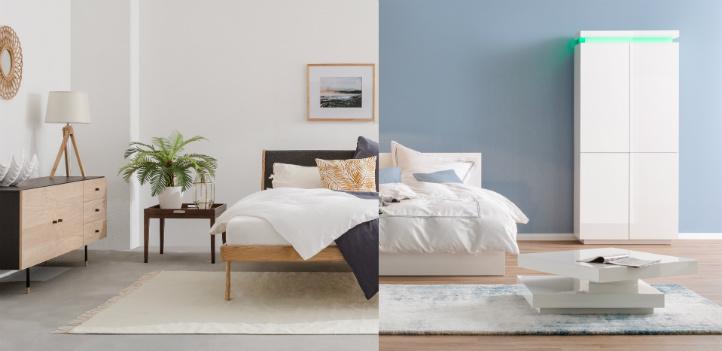 Skandi Stil vs Modern Stil - Schlafzimmer Wohnideen bei home24