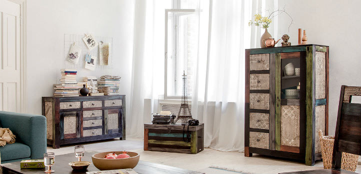 Exotische highboards in vintage look - home24