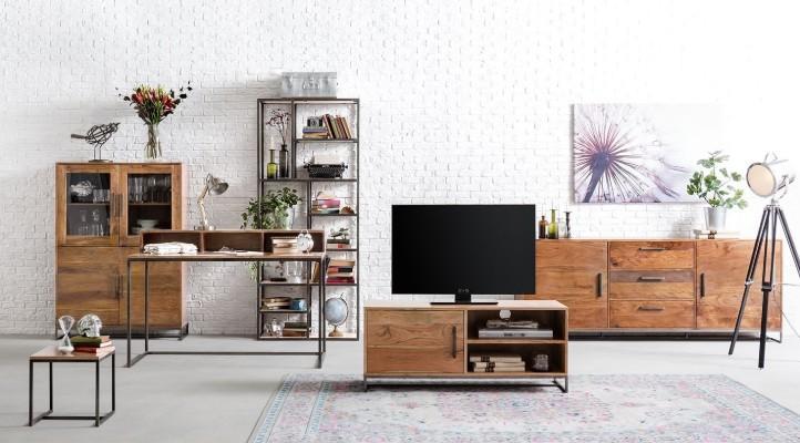 Wohnzimmermöbel aus Holz und Metall - home24
