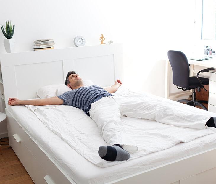 Welche Matratze passt zu deinem Gewicht, deinem Körperbau und deiner Größe? bei home24