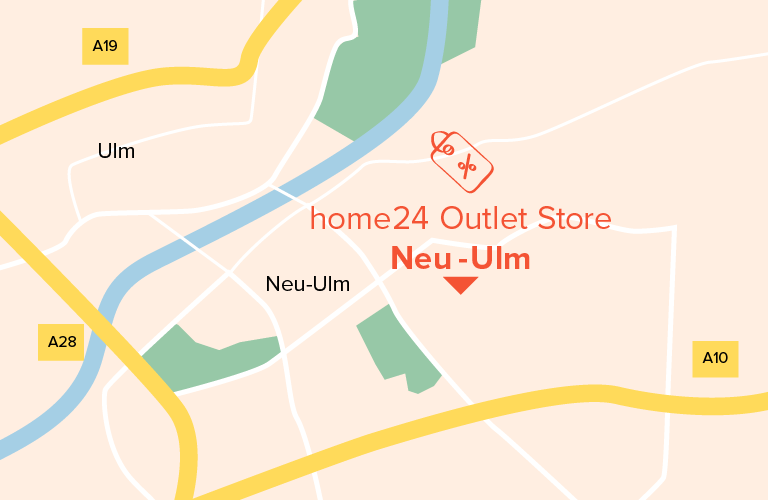 Neu-Ulm home24 outlet map