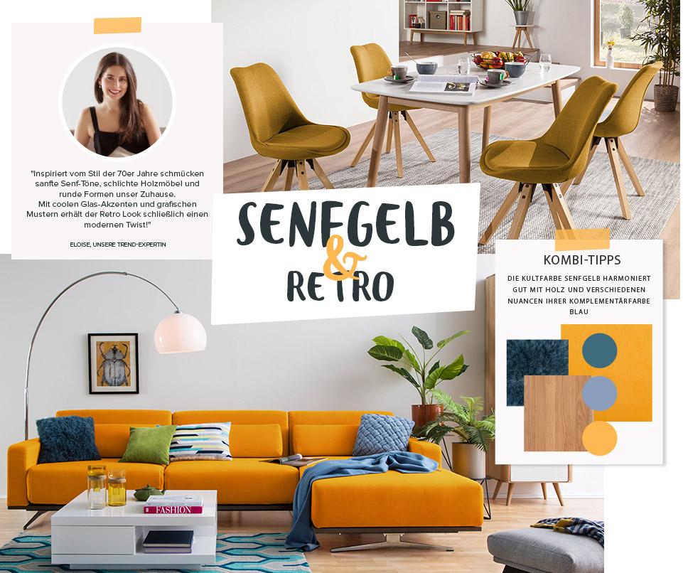Wohntrend Retro & Senfgelb | Wiederentdeckte Trendfarbe