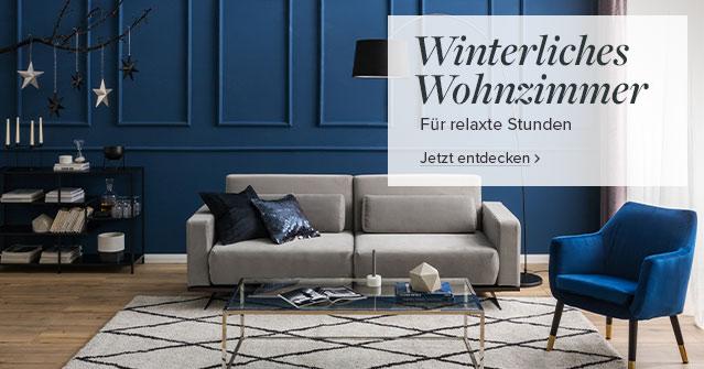 Winterliches Wohnzimmer bei home24
