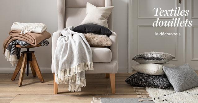 Textiles douillets chez home24