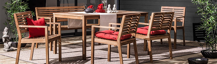 Holz-Gartenmöbel online bei Home24