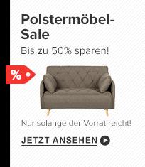 Polstermöbel-Sale bis zu 50 Prozent sparen